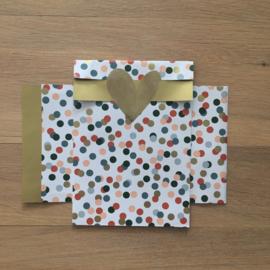 2 kadozakjes 12x19 cm (A6) inclusief sticker gouden hartje