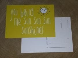 Postcard: You bring me sunshine