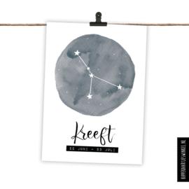 Sterrenbeeldkaart Kreeft