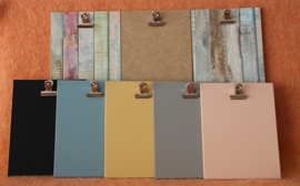 Houten klembord S/A6, vintage blauw