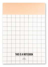 Notitie blok A5, 'this is a notebook'