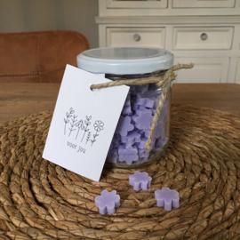 Pot met kleine bloemen zeepjes (lila), voor jou