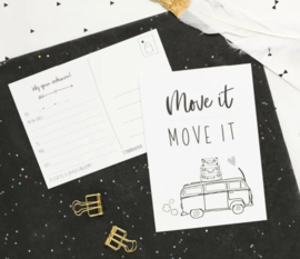 10 verhuiskaarten, move it