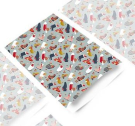 2 kadozakjes 17 x 25 cm (A5) Sint, incl sticker