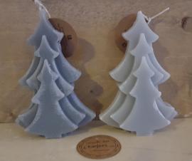 (Kerst) boom kaars, midden grijs*