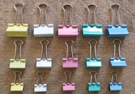 Binder clips pastel