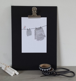 Postcard: waslijn