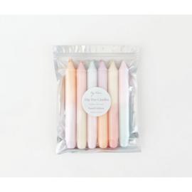6 dompel dye-kaarsen: pastel