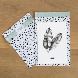 2 kadozakjes 17 x 25 cm (A5) inclusief stickers