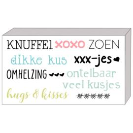 kado doosje: knuffel/xoxo/zoen...