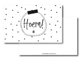 Minikaartje:  Hoera! (W)