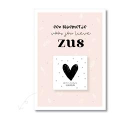 Postcard met bloemenzaadjes, ZUS