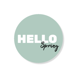 5 kado stickers: HELLO spring