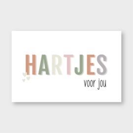 Mini kaartje: HARTJES voor jou