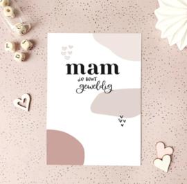 Postcard: MAM je bent geweldig