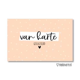 Minikaartje: van harte gefeliciteerd (M)