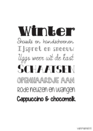 Woonkaart/poster A5, Winter