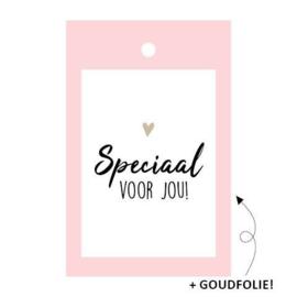 Kado label: speciaal voor jou (roze)