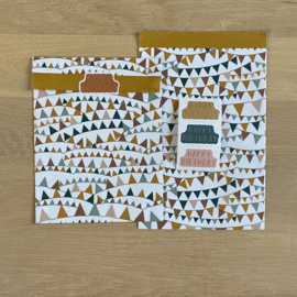 2 kadozakjes 12x19 cm (A6) inclusief 3 stickers