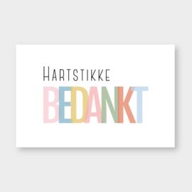 Mini kaartje: hartstikke bedankt