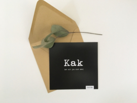 Postcard vierkant incl envelop: KAK
