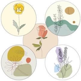 5 x kadosticker: spring (bloemen)