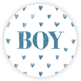 5 x kado sticker: BOY