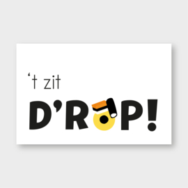 Mini kaartje: 't zit D'ROP
