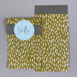 2 kleine kadozakjes  7 x 13 cm, (A7) inclusief sticker