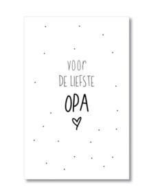 Minikaartje: voor de liefste Opa.