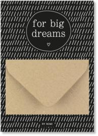 Geldkaart: for big dreams