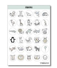 Kado stickers: Dieren