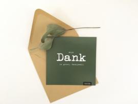 Postcard vierkant incl envelop:  DANK