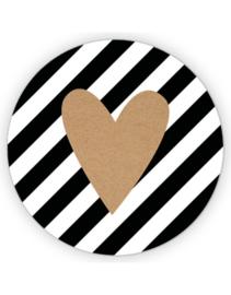 2 x XL  sticker: hart