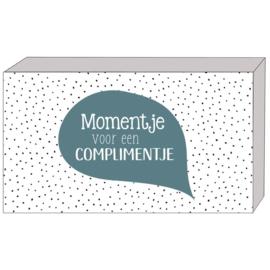 Een momentje voor een complimentje doosje (blauw)