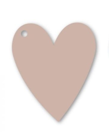 Kadolabel: hart, zacht rose