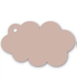 Kadolabel wolk, nude/roze