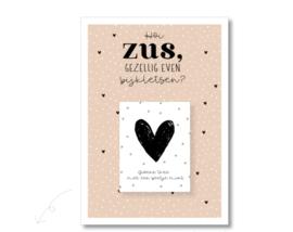 Postcard en theezakje, hoi ZUS...