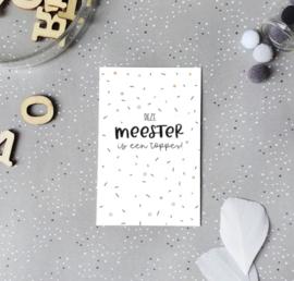 Minikaartje: deze meester is een topper (S)