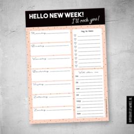 Weekplanner A5, Hello new week