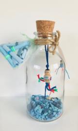 Wensfles XL, blauw