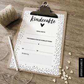 Kinderakte bruiloft A4