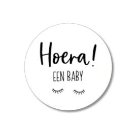 5 stickers: hoera een baby