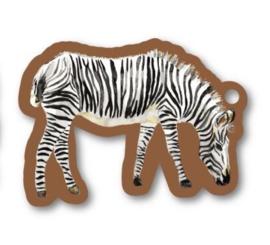 Kado label: zebra