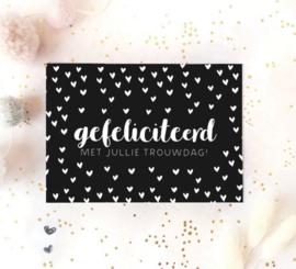 Postcard: gefeliciteerd met jullie trouwdag