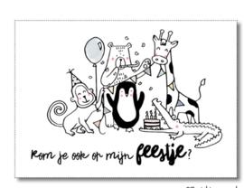 10  verjaardag feestje uitnodigingen, dieren