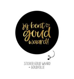 5 x Kadostickers: jij bent goud waard!