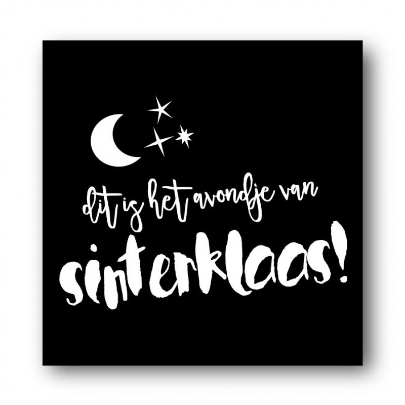 Sticker, avondje van Sinterklaas