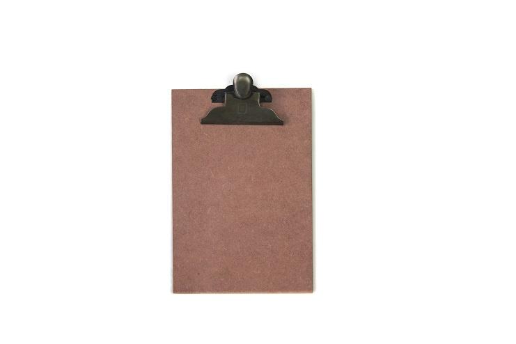 Houten klembord A5, vintage roze