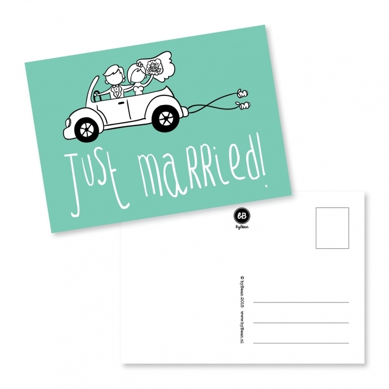 Postcard, Just married!